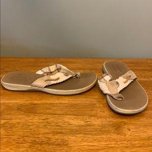Sperry Top-Slider Beige Sandals Women's 6